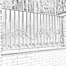Кованый забор в Люберцах