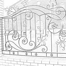 кованый забор в Мытищах