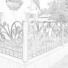 кованый забор в Орехово-Зуево