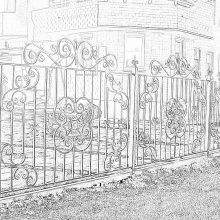 кованый забор в Серпухове