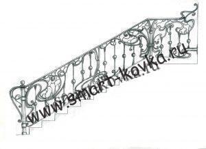 Эскизы кованых перил