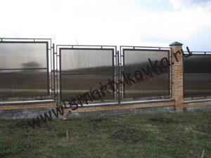 Забор из поликарбоната секционный