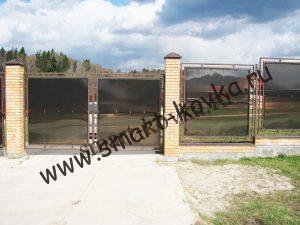 Забор и ворота из поликарбоната